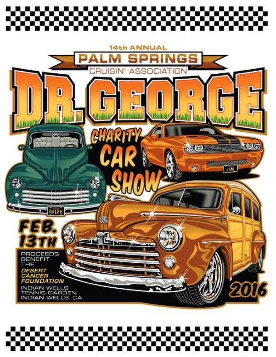 The Dr George Charity Car Show - Palm springs classic car show
